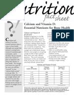 Calcium and Vitamin D (Tropicana Fact Sheet) ADA FACT SHEET