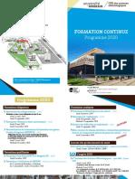 2020 - Programme de Formation Continue UFR des sciences odontologiques 3