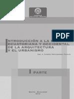 PRIMERA PARTE Historia Ecuatoriana y Occidental de La Arq.
