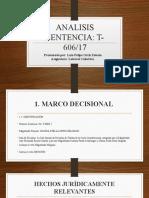 ANALISIS SENTENCIA T606-17 - Luis Ortiz