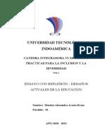 ENSAYO CATEDRA CAP 1Y2