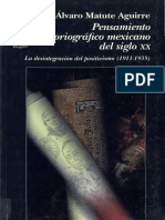 Álvaro Matute Aguirre, Pensamiento historiográfico mexicano del siglo XX