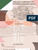 Fisiología Nerviosa de Mamíferos Con Énfasis en Bovinos Bos Taurus (Vaca)