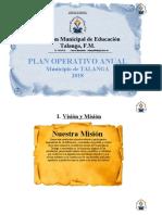 POA TALANGA vision Mision y  objetivos