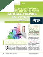 Requetes de Recherche Sur Google Trend en Python