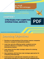 Strategies for Competing in Internationa