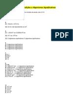 01 Resolução Erros e algarismos significativos
