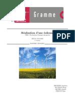 Rapport Eolien GED 2018-2019 Création d'éoliennes artisanales