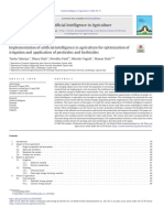 Implementation of artificial intelligence in agriculture for optimisation of