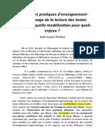 Dufays. Analyser les pratiques d'enseignement-apprentissage