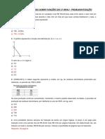 Lista 2 de Exercícios Sobre Funções Problematização Função Afim