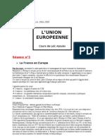 1. La Fce et l'Europe