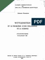Wittgenstein et le problème d'une philosophie de  la science