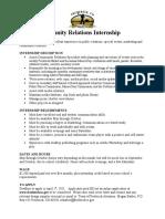 Community Relations Internship