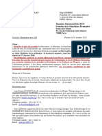 Lettre Au President de La Republique Francaise Du 29 Octobre 2019
