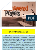 Unswered Prayer