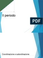 Analisi del periodo
