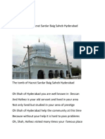 In the Praise of Hazrat Sardar Baig Saheb Hyderabad