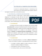 LES CANAUX ET LES OUTILS DE LA COMMUNICATION FINANCEIRE