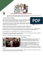 Ficha 3° Organización y estructura de la Iglesia