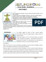 FICHA DE RELIGION 17 - TERCER GRADO SECUNDARIA