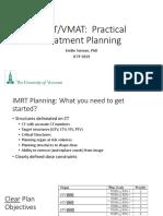 27 IMRT VMAT Practical Treatment Plannning