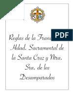 Reglas de la Franciscana Hermandad Sacramental de la Santa Cruz y Nuestra Señora de los Desamparados - Parque Alcosa