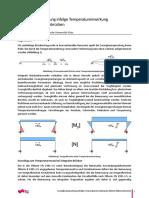 Zwangbeanschpruchung infolge Temperatureinwirkung bei kurzen Rahmenbrücken