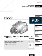 Canon HV20 Instruction Manual PAL En