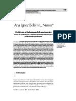 Artigo Ana Ignez Políticas e Reformas Educacionais