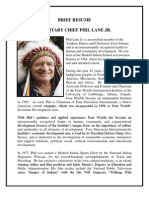 Resume- Hereditary Chief Phil Lane Jr