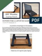 Suporte para laptop de madeira DIY _ Planos gratuitos _ Apenas $ 10 em Materiais de Madeira