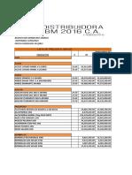 Lista de Precios Distribuidora Bm 2016 27.02.21.1