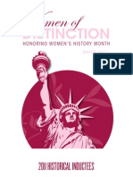 2011 Historic Women of Distinction Book