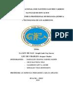 Ley de Gas Ideal - Charles y Lussac