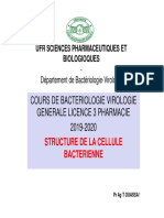 STRUCTURE DE LA CELLULE BACTERIENNE L3 2019 2020