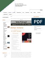 Crítica_ Pink Floyd - The Final Cut _ El Portal Del METAL_ Reseñas, Reviews y Opiniones de Música Metal y Rock