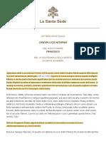 Papa Francesco Lettera