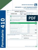 Form 410 Ejercicio 11