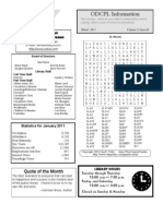 Adult Newsletter March 2011