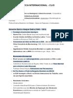 POLÍTICA INTERNACIONAL - CLIO (Governo Dutra)