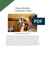 Obama Affirms George Bush's Guantanomo Policy