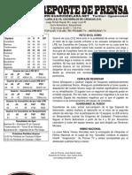 Reporte Juego 6 Guaros - Cocodrilos