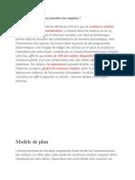 Plan Dialectique Exemple