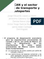 El TLCAN y el sector equipo de transporte