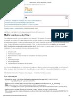 Malformaciones de Chiari_ MedlinePlus en Español