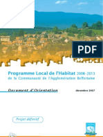 Séance 4 - Programme local de l'habitat - Document Orientation
