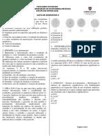 Lista de Exercícios 2 - Metrologia