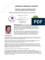 Understanding & Teaching Friendship Skills in Individuals with ASD NB2011