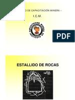 ESTALLIDO DE ROCAS